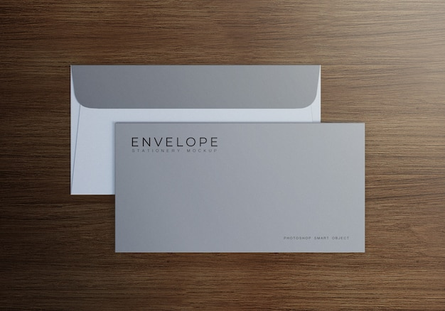 Simple monarch envelope mockup design Premium Psd
