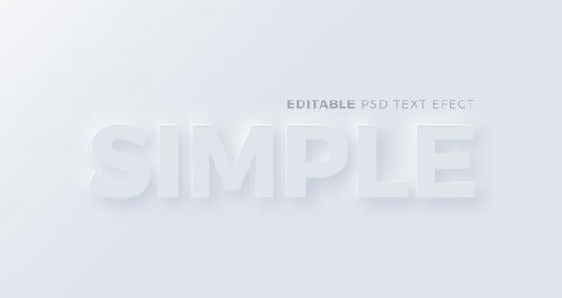 단순한 신경성 텍스트 효과 프리미엄 PSD 파일