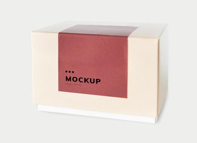 Mockup di scatola di carta di imballaggio semplice Psd Gratuite