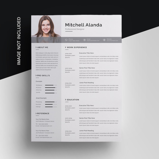 Simple Resume Template With Sidebar