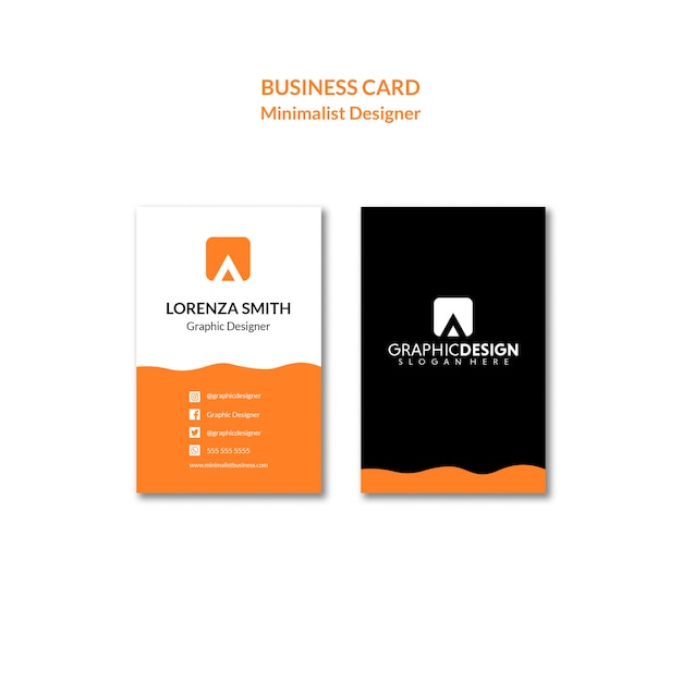 Simplistic concept of an identity business card Free Psd