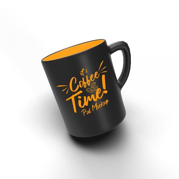シングルドフ飲酒コーヒー飲料コーヒー現実的な孤立した飛行モックアップ Premium Psd