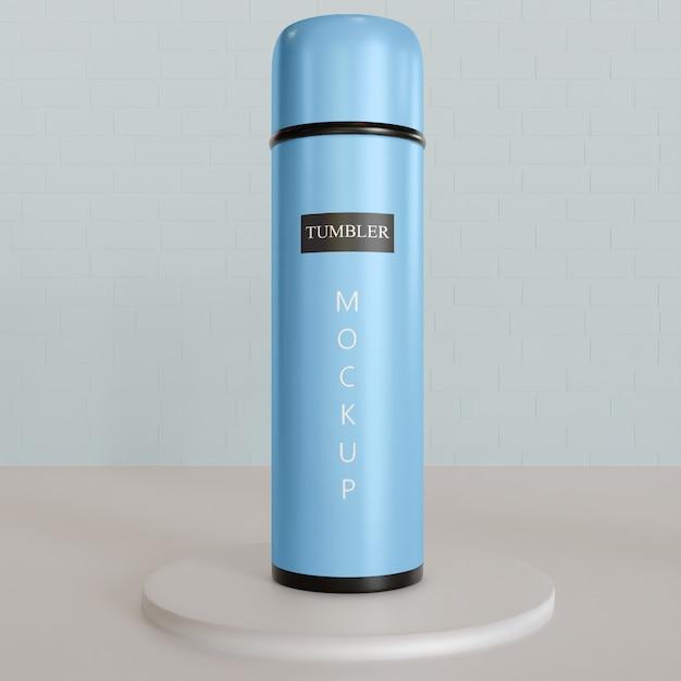 Single tumbler or vacuum flask mockup Premium Psd