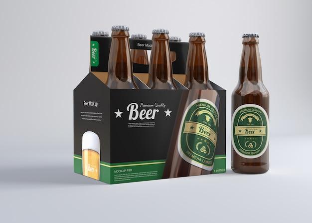 Six Pack Beer Mockup Premium Psd File