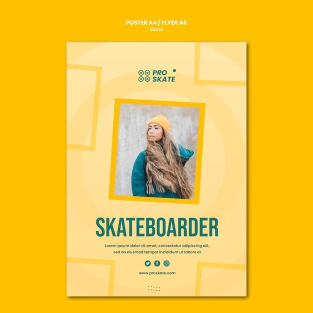 スケートコンセプトチラシテンプレート 無料 Psd