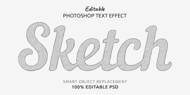 Sketch editable text style effect Premium Psd
