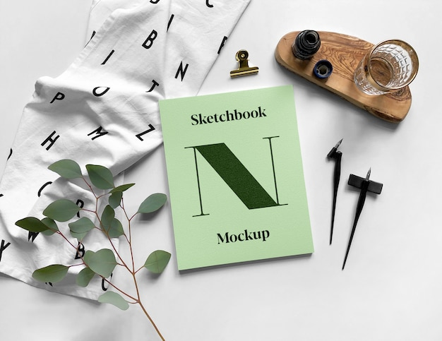 Sketchbook mockup Premium Psd
