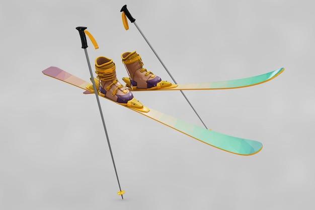 Ski mockup Free Psd