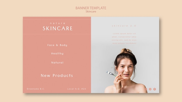 Skin Care Banner Template Free Psd File