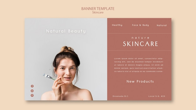 Skin Care Banner Free Psd File