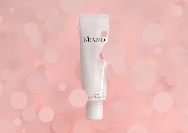Skin care moisturizing cosmetic premium products with geometry surface. Premium Psd