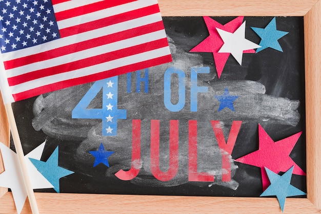 Slate mockup for usa independence day Free Psd