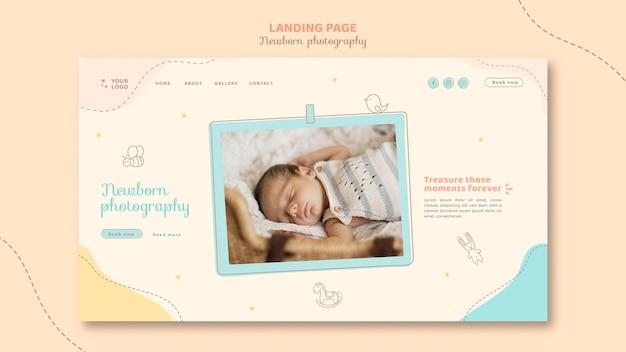 Сонный ребенок дома шаблон целевой страницы Бесплатные Psd