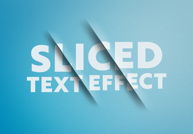 Sliced text effect mockup Premium Psd