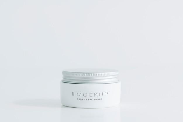 Small face cream can mockup Free Psd