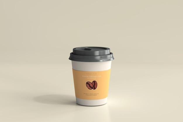 작은 크기의 종이 커피 컵 모형 무료 PSD 파일
