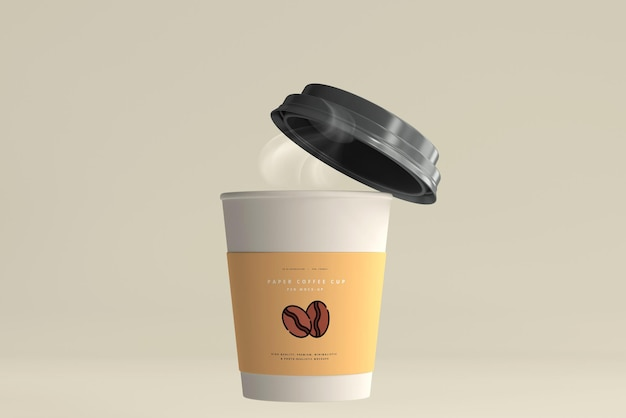 Small size paper coffee cup mockup Free Psd