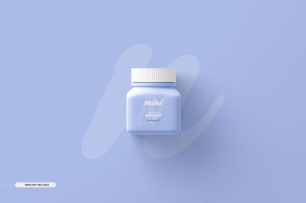 Небольшой квадратный макет бутылки для пищевых добавок Бесплатные Psd