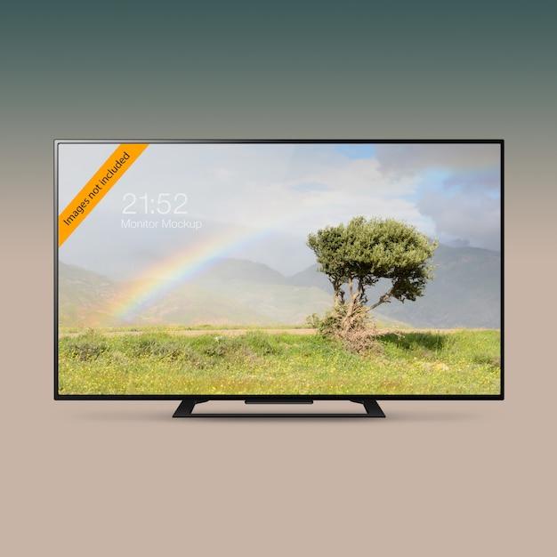 Smart led ultra hd tv mock-up Premium Psd