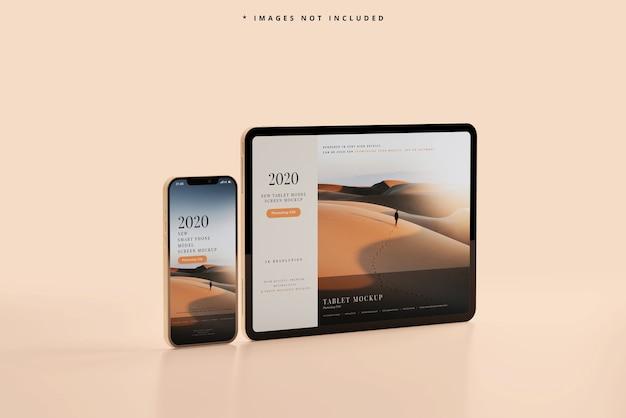 스마트 폰 및 태블릿 목업 무료 PSD 파일