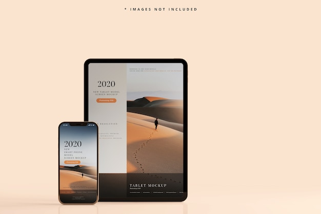 Smart phone and tablet mockup Free Psd