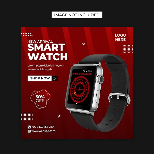 Smart watch  social media and instagram post template Premium Psd