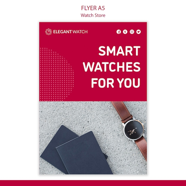 Smart watches for you poster template Free Psd