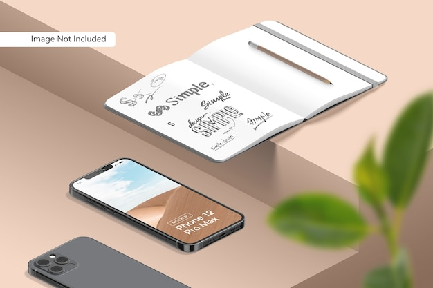 Smartphone 12 pro max 모형 무료 PSD 파일