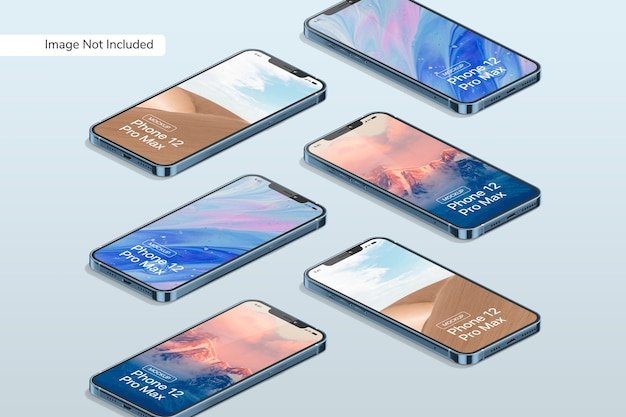 Smartphone 12 pro max mockup Free Psd