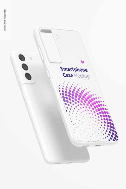 Smartphone case mockup, floating Free Psd