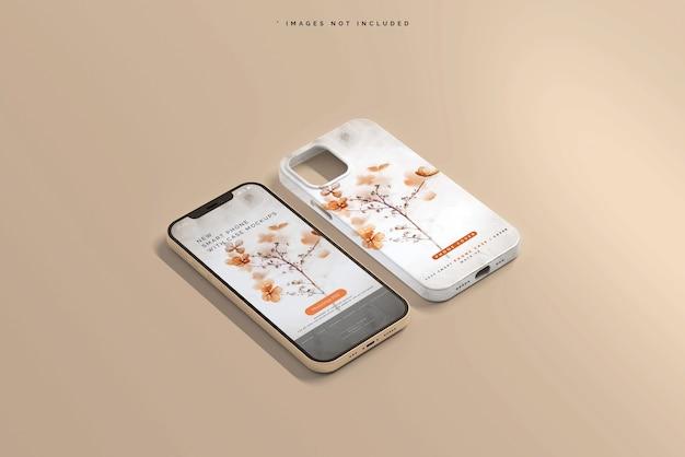 Cover per smartphone o mockup di custodia Psd Gratuite