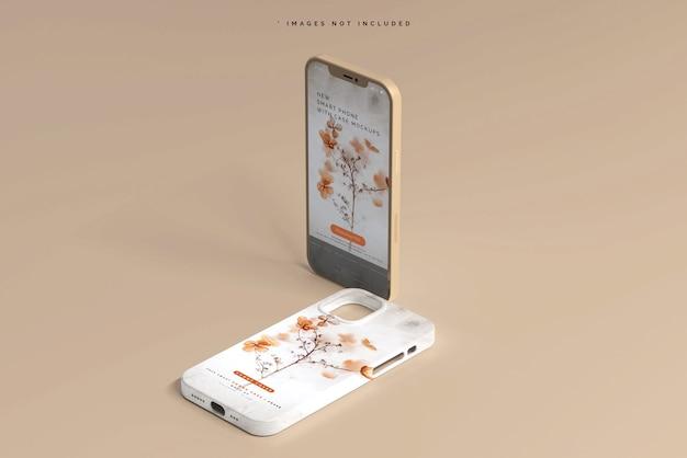 スマートフォンのカバーまたはケースのモックアップ 無料 Psd