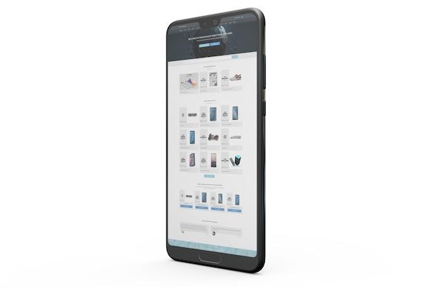 Smartphone display mockup Free Psd