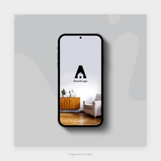 3dレンダリングでのスマートフォンのモックアップデザイン Premium Psd