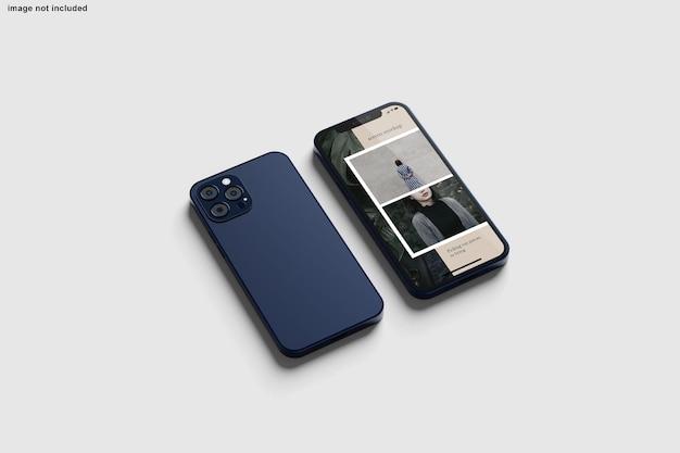 デザインプレゼンテーション用のスマートフォンモックアップ Premium Psd