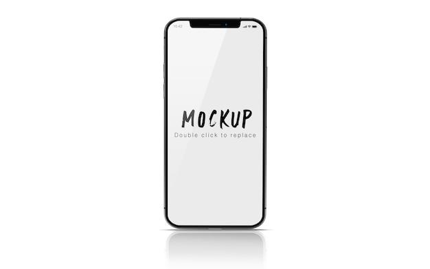 分離されたスマートフォンのモックアップpsd Premium Psd