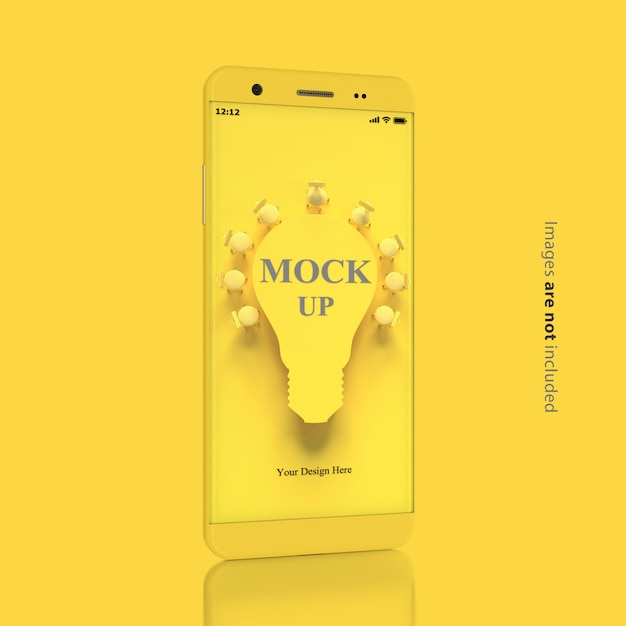 Smartphone mockup minimal concept Premium Psd