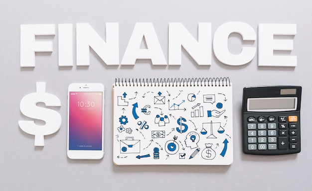 Smartphone mockup with finance concept Free Psd