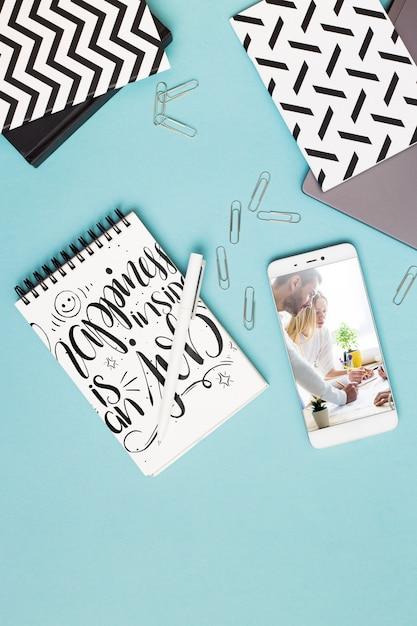 smartphone notepad mockup 23 2148052778