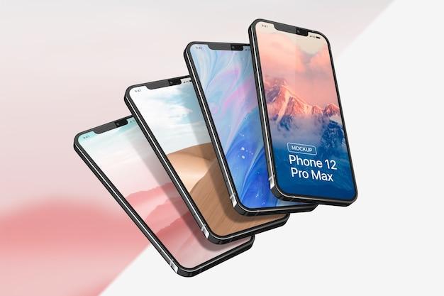 Smartphone Pro Max 모형 프리미엄 PSD 파일