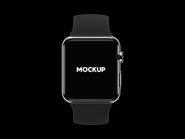 Smartwatch on black background mock up design Free Psd