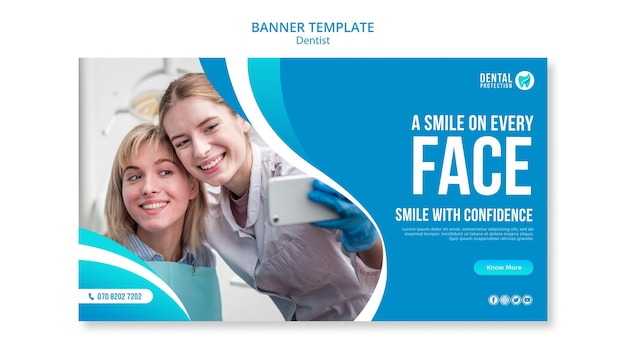 A smile on every face banner template Free Psd