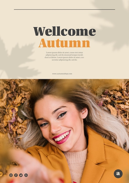 Smiley woman looking at the camera web template Free Psd
