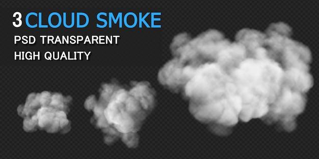 Smoke cloud design rendering isolated Premium Psd