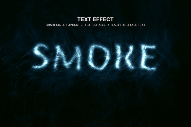 Smoke text effect Premium Psd