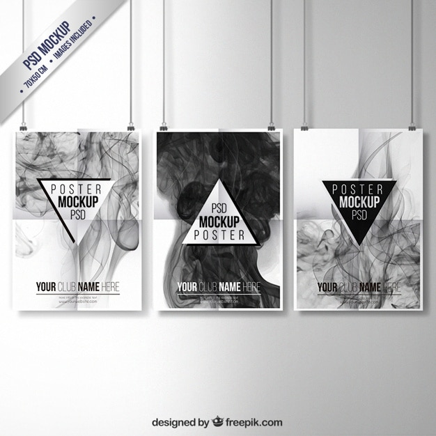 Smoky posters collection free psd