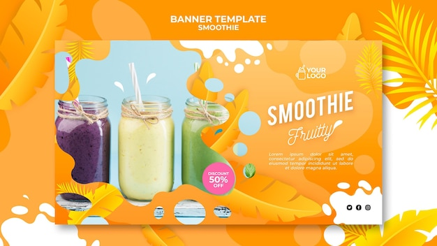 Smoothie banner concept Free Psd