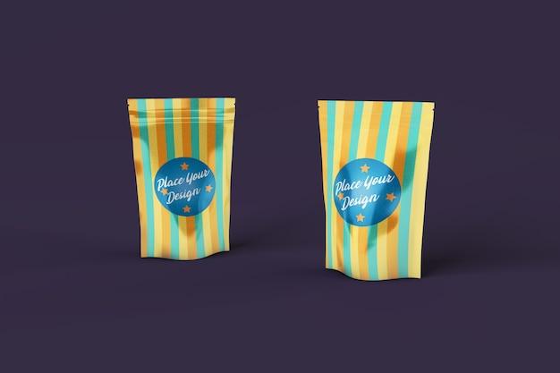 Snack bags psd mockup Premium Psd