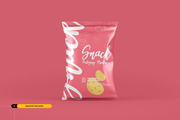 Premium Psd Snack Chips Foil Pack Packaging Mockup