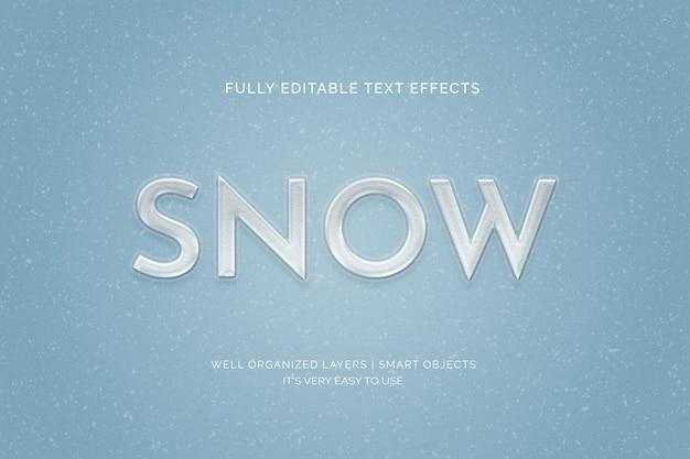 Snow text style effect Premium Psd